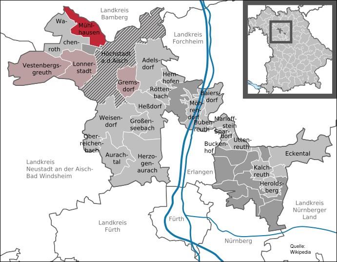 Karte Markt Lonnerstadt